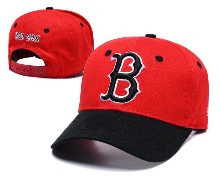 2018 New Men S Red Sox Snapback Hats Golf Visor Red Color Embroidered B  Letter Team Logo Brand Hip Hop Sports Baseball Adjustable C Baseball Cap  Flat Cap ... 9fb60c68599