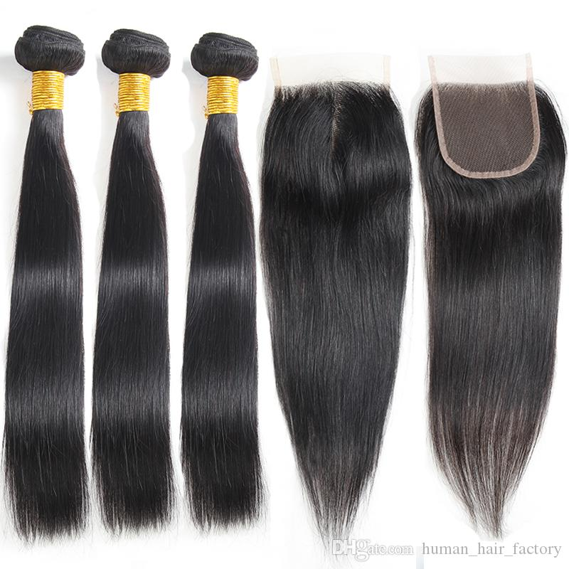 Straight Raw Virgin Indian Human Hair Bundles