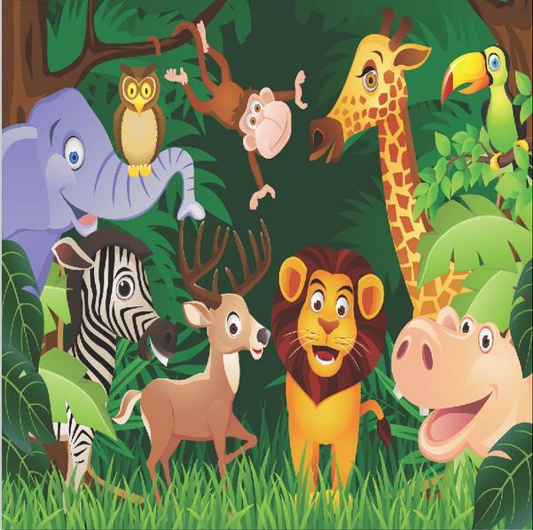 Животные джунглей для детей картинки