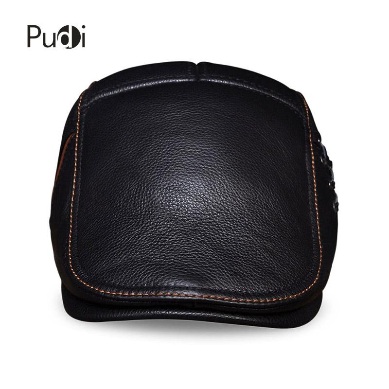 53012006a29 HL111 Spring Men S Real Cow Leather Flap Cap Hat Brand New Style Genuine  Leather Baseball Gatsby Ascot Caps Newsboy Beret Hats 47 Brand Hats Vintage  ...