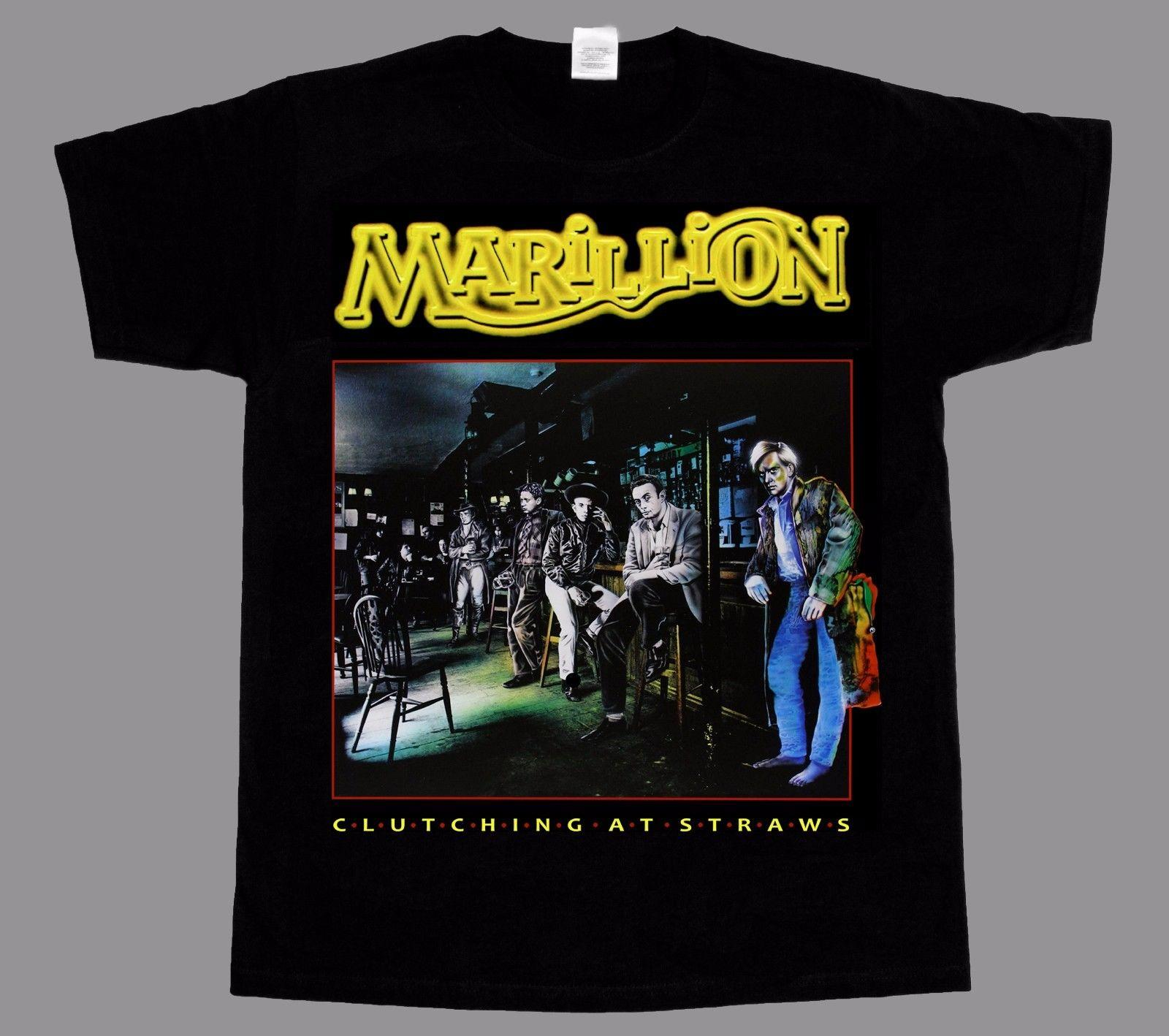 30e40ffac13 MARILLION CLUTCHING AT STRAWS NEW BLACK T SHIRT Mens 2018 Fashion Brand T  Shirt O Neck 100%cotton T Shirt Comical T Shirts T Shirt With From  Beautifultee