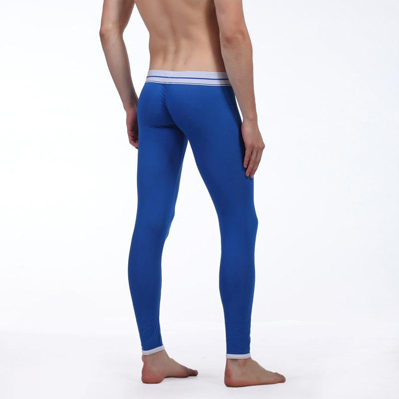Brand Clothing WJ Underwear Men Thermal Long Johns Penis Bag Open Sexy Pants Men Warm Trousers Sleepwear Gay Leggings Underpants