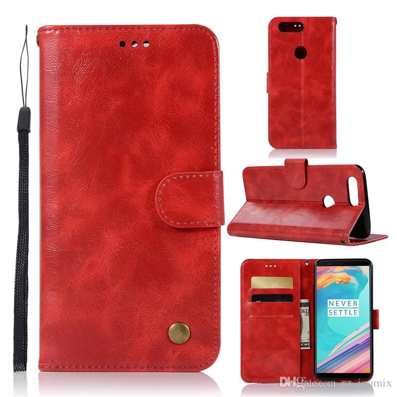 JX Luxury PU Leather Phone Case for Oneplus 5T 6T 6 One Plus 1+5T Wallet Case Mobile Phone Bags