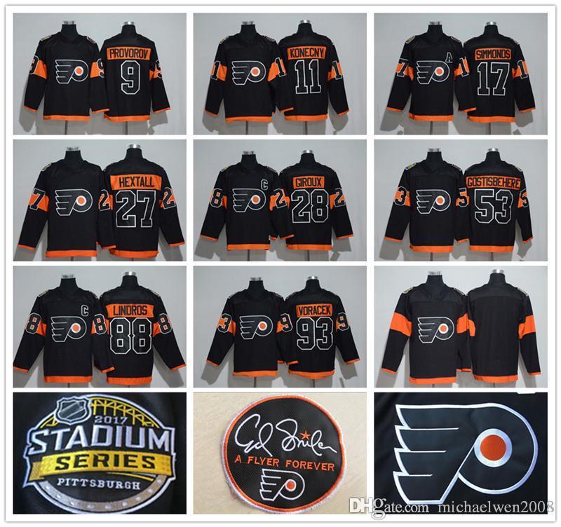 2019 27 Ron Hextall 2017 Stadium Series Jersey 11 Travis Konecny 9 Ivan  Provorov 88 Eric Lindros 93 Jakub Voracek Philadelphia Flyers Jersey From  ... 0e53384b3