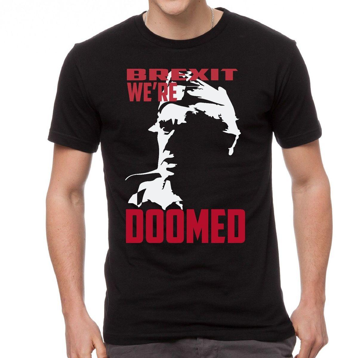 690c3755 NEW DADS ARMY FRASER BREXIT WE'RE DOOMED T SHIRT Casual Shirt Short ...