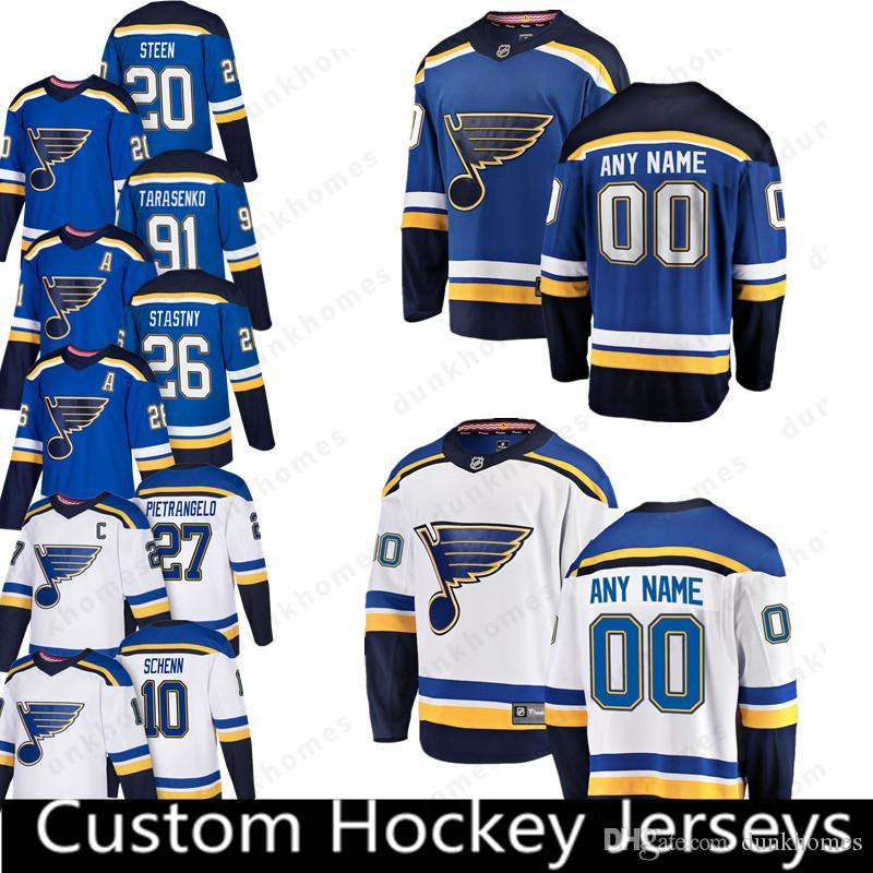 on sale c18b5 3c35b St. Louis Blues Custom New 20 Alexander Steen 15 Robby Fabbri Jersey 26  Paul Stastny 40 Carter Hutton 34 Jake Allen Jerseys