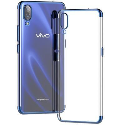 super popular a6302 7ae28 Plating Soft Tpu Phone Case For Vivo V11 Dual Layer Plating Silicone Slim  Back Shockproof Cover For Vivo V11 Pro V9 X23 X21 Case