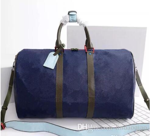 e2a51c8204e2 2019 Hot Sale Mens Womens Duffle Bag High Quality Letters Printed Duffle  Bags Designer Travel Bag Real Leather Keppall 45 20 17cm M43858 Bags School  Bags ...