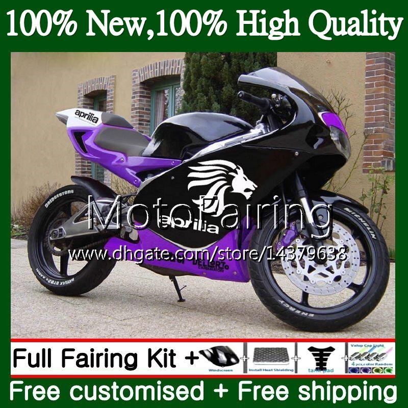أسود بنفسجي لـ Aprilia RS4 RS125 99 00 01 02 03 04 05 RS-125 4MF13 RSV125 R RS 125 1999 2000 2001 2002 2003 2005 Fairing Bodywork