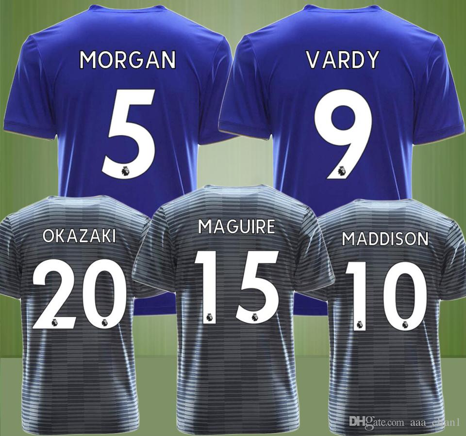 0d8b8b6ed 18 19 VARDY MORGAN MAGUIRE Leicester City Soccer Jerseys Okazaki ...