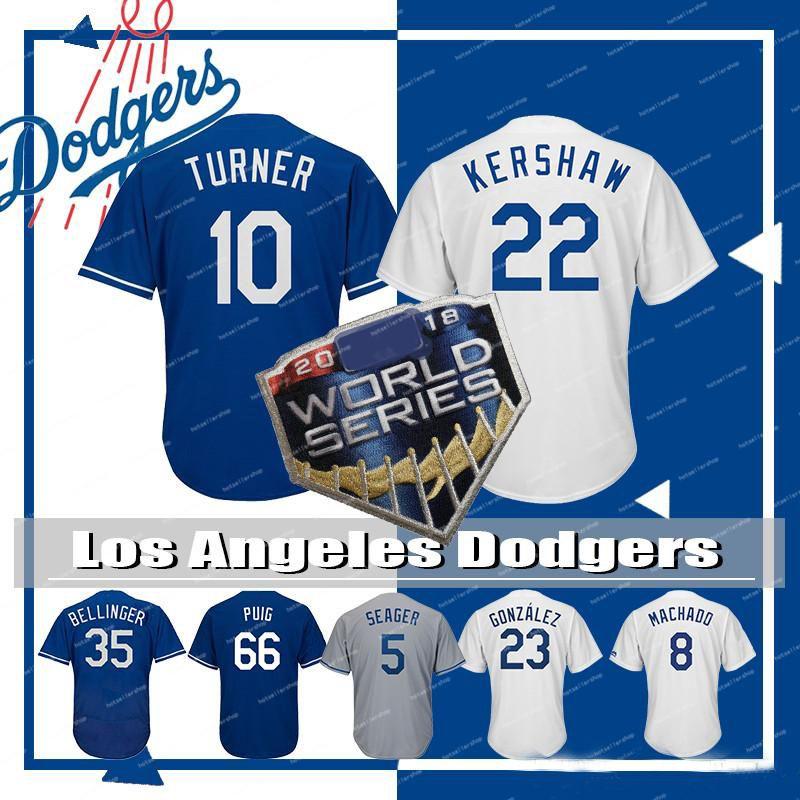 0c5e1f1b2f6 2019 Los Angeles Dodgers Mens 22 Clayton Kershaw 35 Cody Bellinger Baseball  Jersey 8 Manny Machado 10 Justin Turner 23 Adrian Gonzalez QF016PY From ...