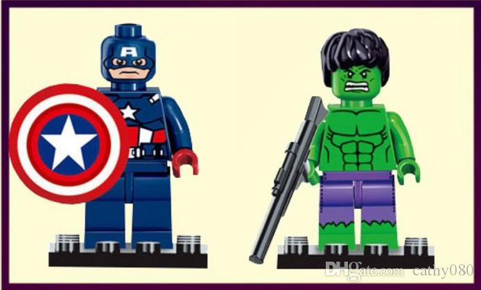 Avengers super hero Mini Figures blocks Batman Logan Thor superman Hulk Building Blocks Sets Kids toy Bricks