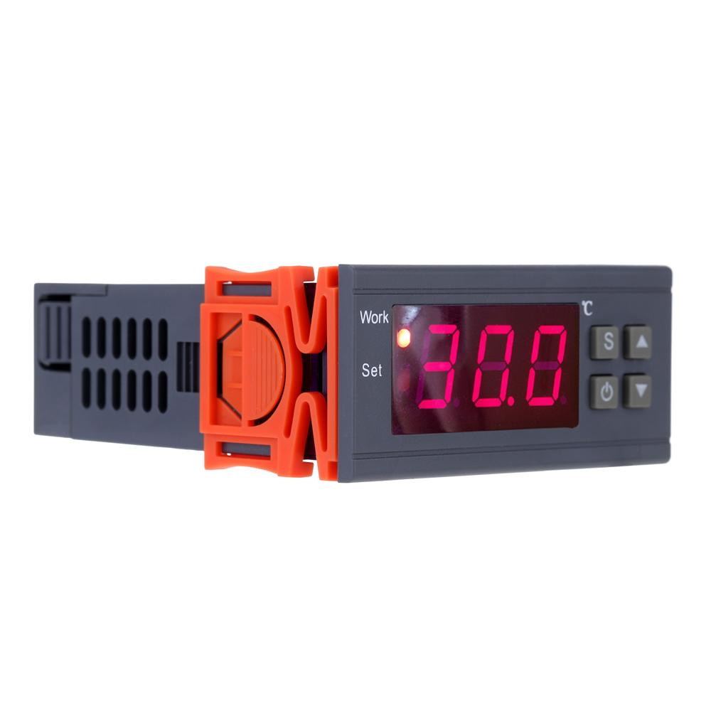 AC 90~250V 10A Digital thermometer Temperature Controller mini thermostat thermal regulator Thermocouple -50~110 Celsius Degree with Sensor