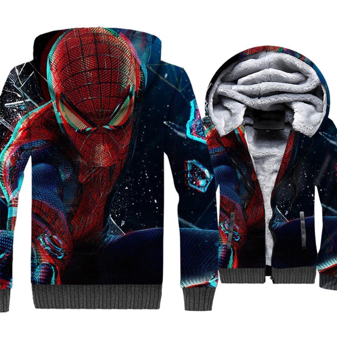 2e77c42e27d1a großhandel spider man jacke männer hoodie crossfit sweatshirt winter