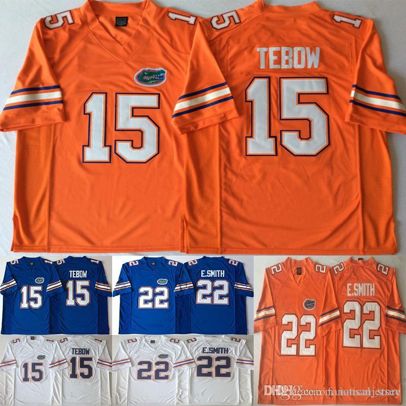 finest selection ea2bd 87c68 15 Tim Tebow Jerseys 22 E.Smith Emmitt Smith 2018 College Florida Gators  Football Team Color Blue White Orange Jersey