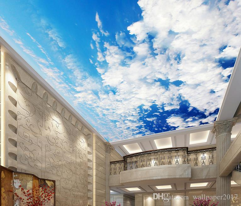 wall mural photo wallpaper Sky and white ceiling painting non-woven Wallpaper Ceiling