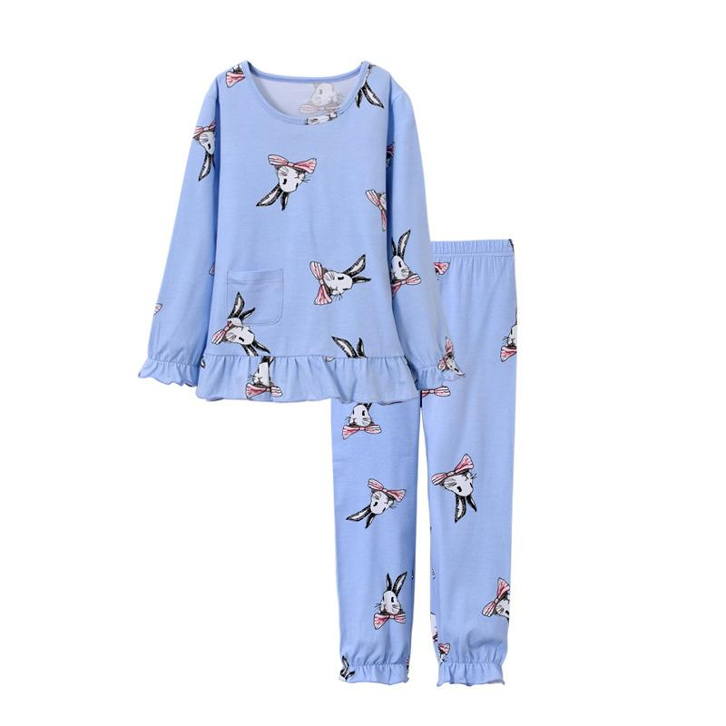 41968f6ea97f4 Acheter Pyjama Enfants Ensemble Filles Lapin Impression Vêtements De Nuit  Fille Pijamas Ensemble Enfants Pyjama T Shirt + Pantalon Bébé Fille À  Manches ...
