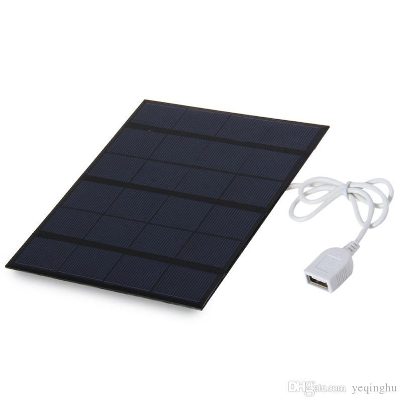 جودة عالية 6V 3.5W شاحن للطاقة الشمسية لوحة للطاقة الشمسية شاحن للهاتف المحمول Mobilbe بنك الطاقة مع USB شحن مجاني