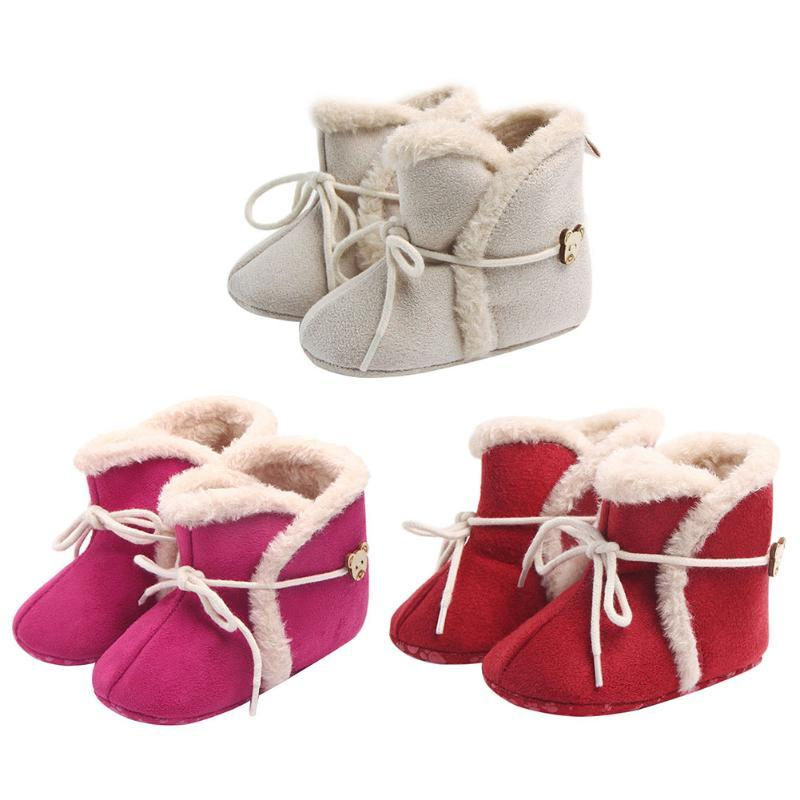 84901d387ac6 Infant Baby Boots Girls  Non-slip Winter Shoes First Walker Keep Warm  Breathable Soft Bottom Cotton Toddle Prewalker Shoes Prewalker Shoes Baby  Boots Baby ...