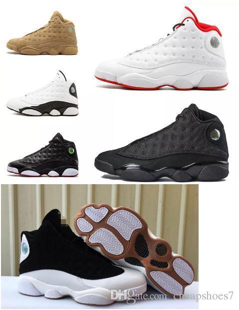 new styles c95f6 493fe 13s Kids mens basketball shoes History Of Flight He Got Game Phantom Black  Cat bred Hyper Italy Blue 13 men sports shoes Sneaker size 36-47