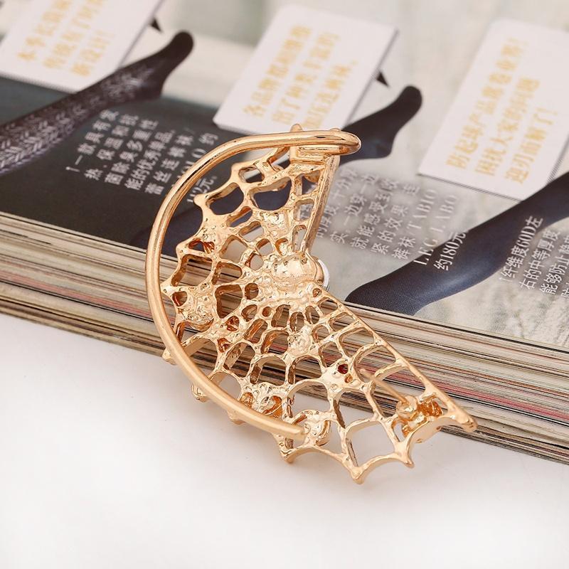 Nuevos pendientes de gota con estilo europeos Pendientes de joyería Tela de araña Brillante Ear Cuffs Pendientes para mujeres