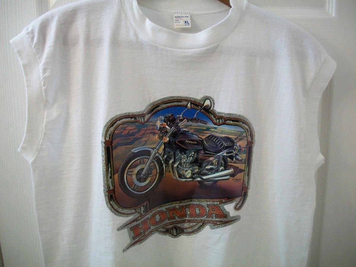 6a0f8e706a3dbe Vintage Honda Motorcycle T Shirt L Muscle Tank Sleeveless Biker Cycling JC  Penny Clothes T Shirt Crazy T Shirts Designs From Yuxin001