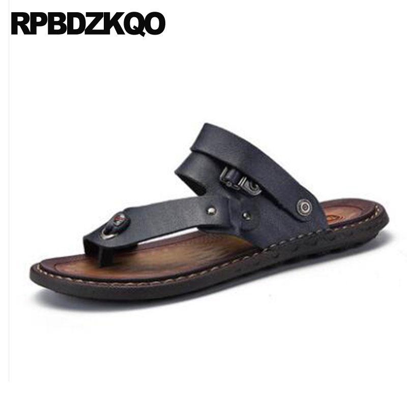 860d962ec Toe Loop Strap Size 47 Waterproof Shoes 46 Slippers Black Slides Plus Men Sandals  Leather Summer Sneakers Designer Runway Blue Espadrilles Birkenstock ...