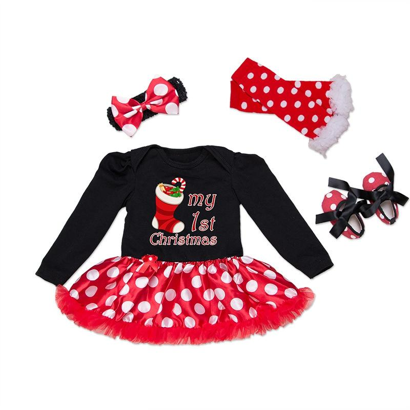 ede0c299363f07 2019 New Christmas Baby 2017 Costumes Clothing Set Infant Toddler Baby  Girls My First Christmas Outfits Newborn Romper Set From Localking, $21.81  | DHgate.