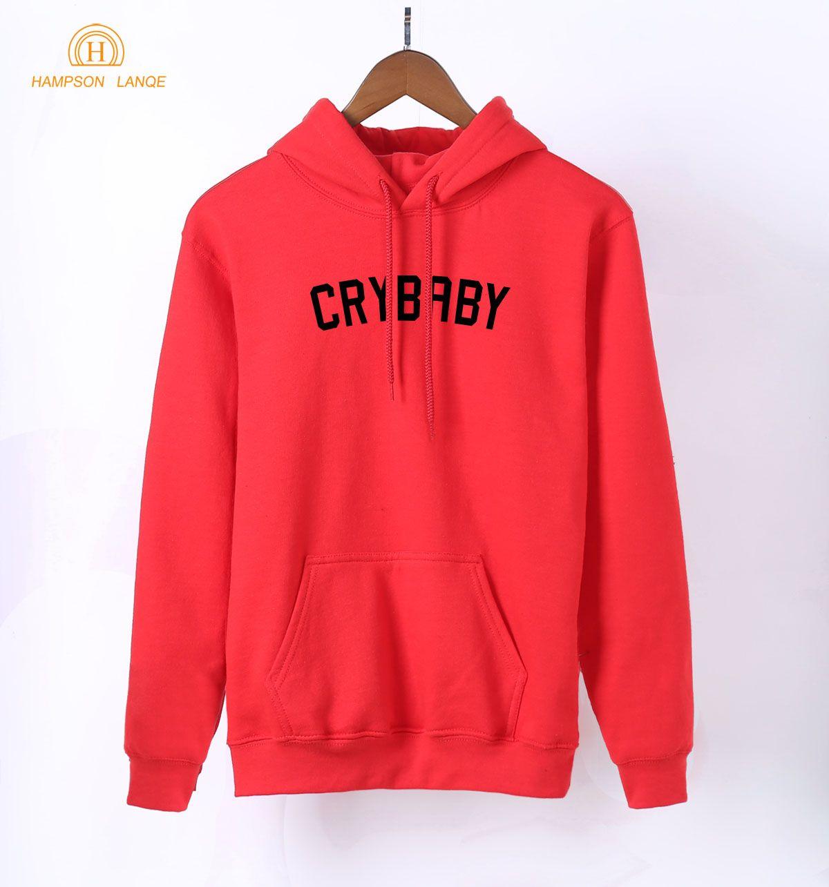 43e74ae8821f 2019 HAMPSON LANQE Crybaby Cry Baby Kawaii Pink Sweatshirt Female ...