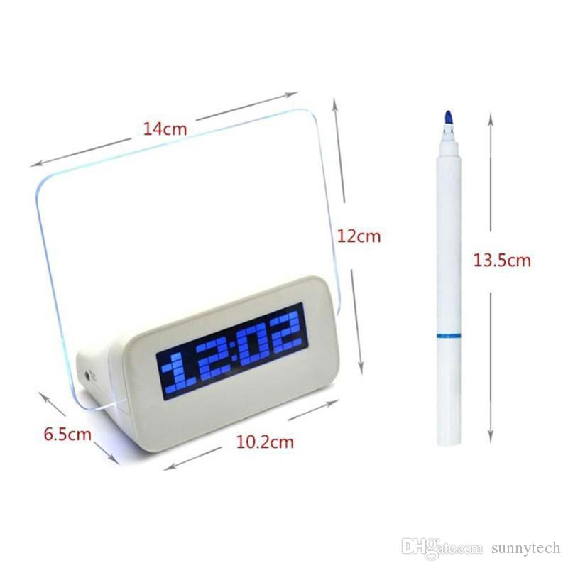Borduhr elektronische Uhr Projektion Alarm Quieten lounged multifunktionale leuchtende Neon Nachricht LZ0861