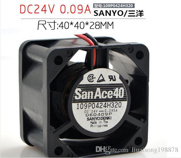 SANYO 109P0424H320 DC 24V 0.095A 40x40x28mm 서버 스퀘어 팬