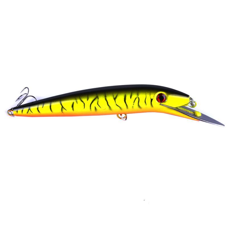 2018 Big Game Minnow señuelo de la pesca en agua salada BASS Crankbait 45g 20 cm buceo profundo cebo artificial Artificial Laser