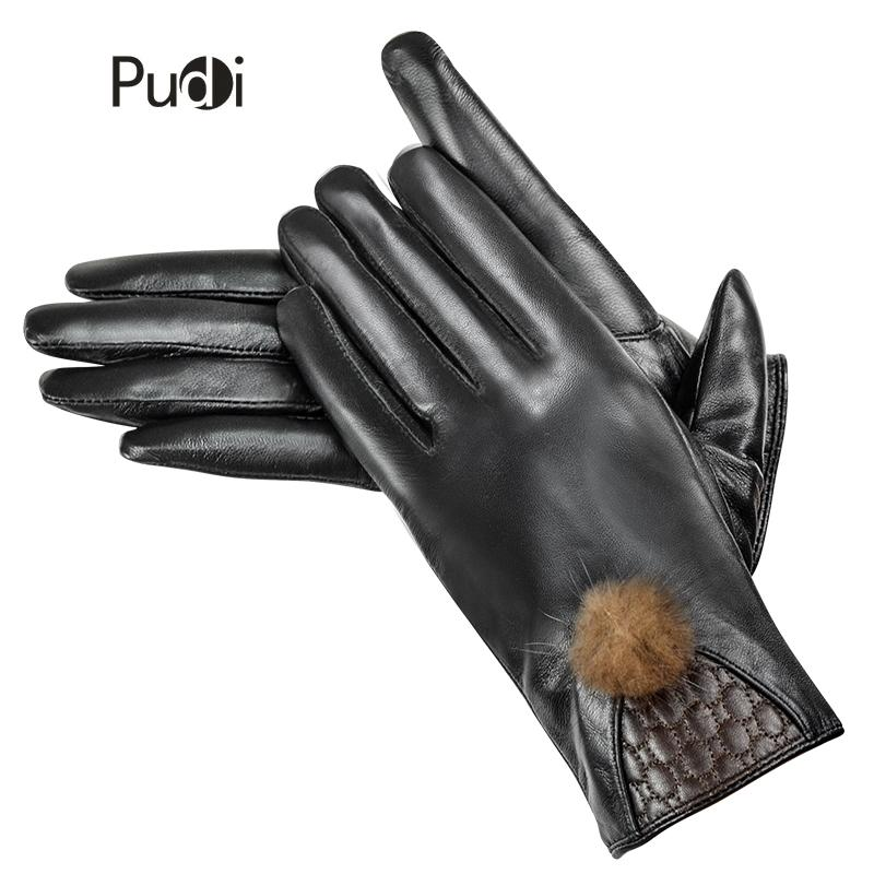 PUDI GL837 women's genuine leather glove real sheep leather brand new fashion winter autumn gloves