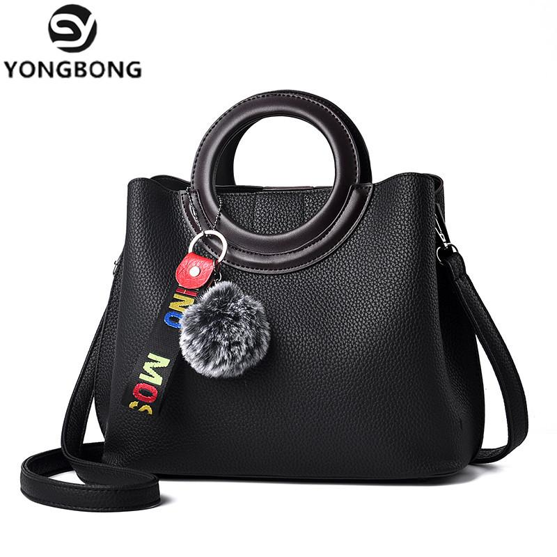 YONGBONG Litchi Pattern Soft PU Leather Women Handbag Two Pieces Female  Shoulder Bag Girls Messenger Bag Casual Women Womens Bags Wholesale Bags  From ... a8d048deab273
