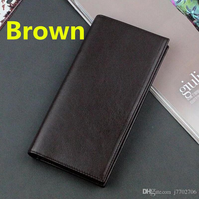 Genuine Leather Business Men Wallet Classic Luxury Clutch Bag Suit Long Wallets 2018 New Arrivals Fashion Credit Card Holder Purse Handbag