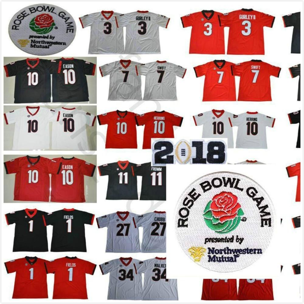 19d74ee18 ... jake fromm malik he cc4a8 86245  canada 2018 ncaa georgia bulldogs 1  justin fields 3 roquan smith 7 dandre swift 10 jacob