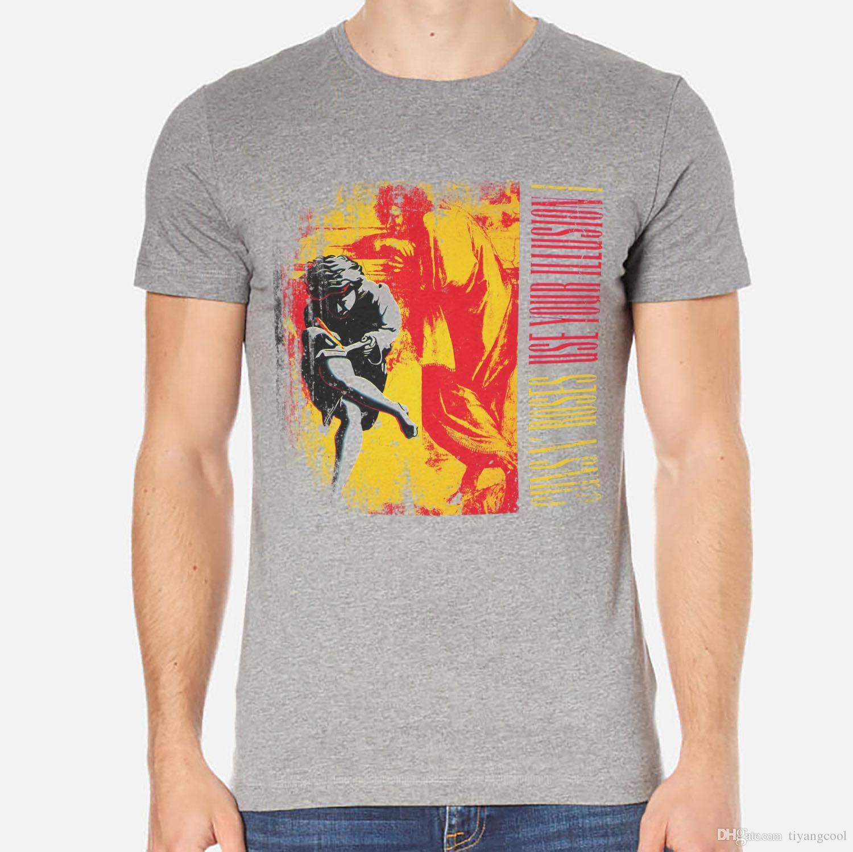 Guns N Roses Rock T Shirt Men White Or Gray 1 B C 038 Trendy Mens T