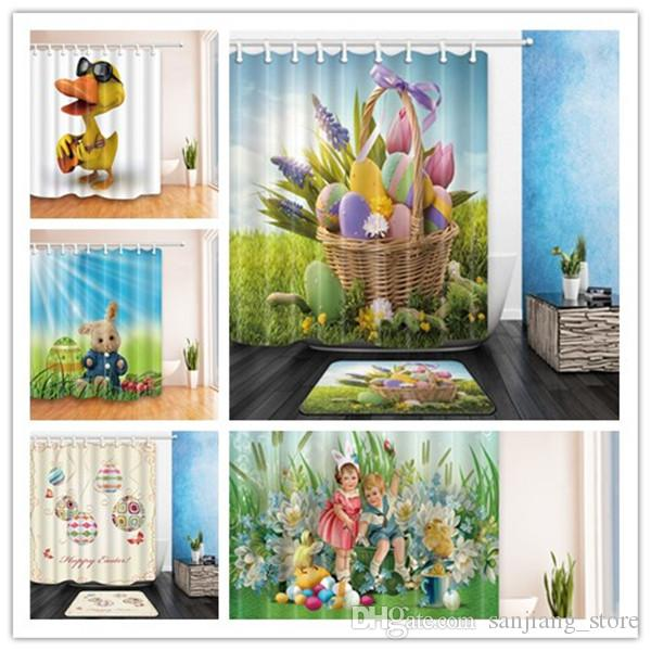 Online Cheap 180*180cm Easter Shower Curtain 5design Polyester ...