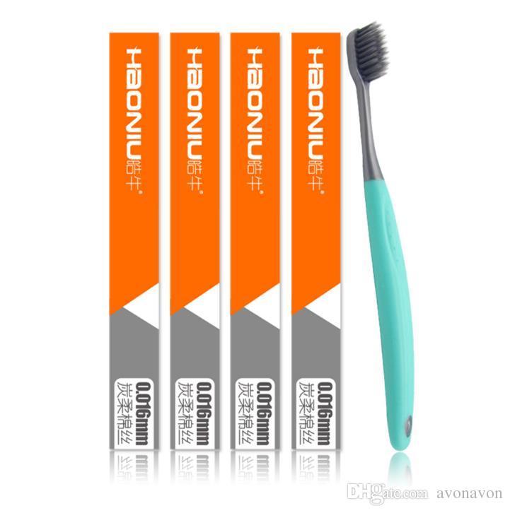 2018 petite tête porte brosse à dents dessins animés brosse à dents animaux charbon de bois doux cheveux brosses à dents accessoires de bain a382