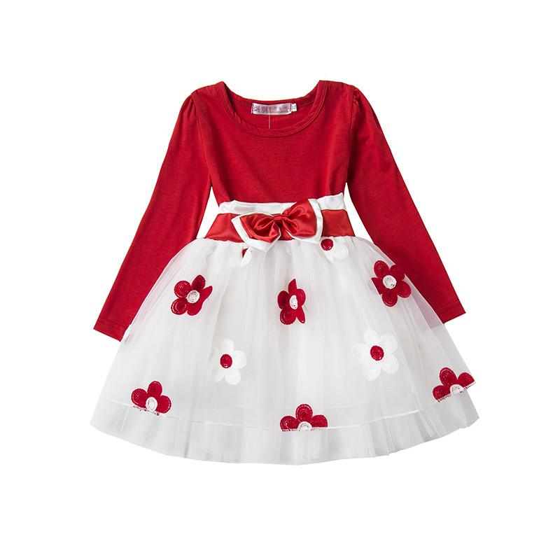 7187fa802 2019 Cute Baby Girl Autumn Winter Dress Infant Toddlers Cotton Long ...