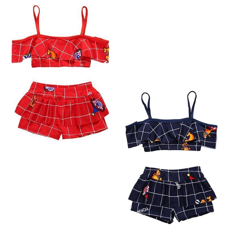61cd7618dbe 2019 1 4T Girls Clothing Set Summer Kids Girls Split Swimwear Baby Bikini  Set Beach Two Piece Bathing Suit Photography Clothes From Fragranter