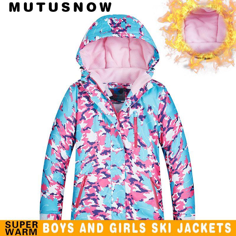 c92f9608a6b 2019 Kids Ski Jacket Winter Children Windproof Waterproof Super Warm Ski  Clothes Girls Snow Coat 30 Winter Snowboard Jacket Brands From Mtaiyang