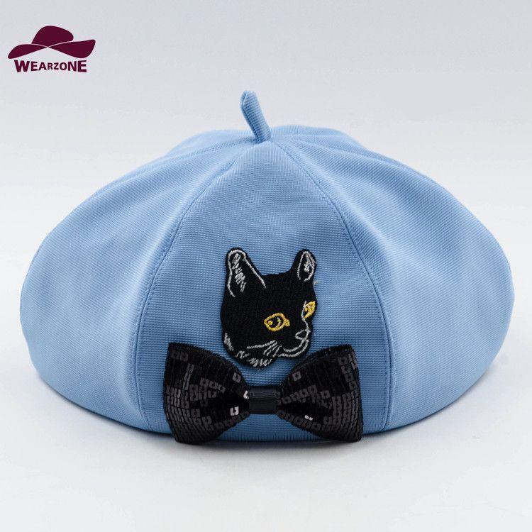 b4cbdcb0bb4d0 2016 New Woman Brand Winter Berets Hats Berets Elegant Beret Cat ...