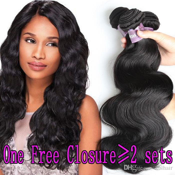 Xbl Hair Human Hair Weave Body Wave Straight Remy Human Hair