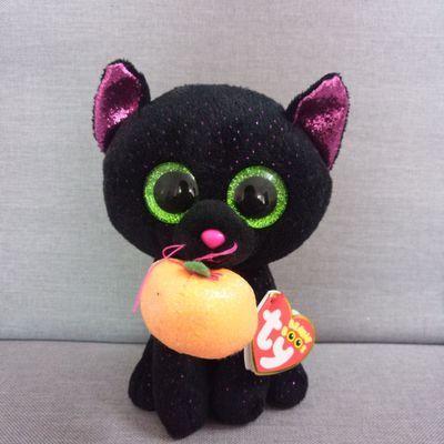cfdc3d05254 2019 Ty Beanie Boos Frights Black Cat Plush Regular Soft Big Eyed ...