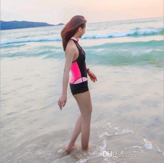 South Korea's popular diving suit female sleeveless sunscreen quick-drying swimming surfing snorkeling clothing was thin jellyfish clothing