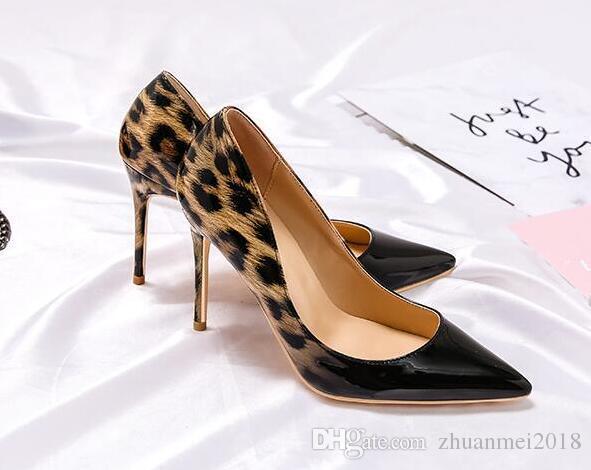 94657e9b23eb Brand Shoes Woman High Heels Women Shoes Pumps Stilettos Shoes For Women  Black Leopard Print High Heels 12CM PU Leather Wedding Deck Shoes Boat Shoes  For ...