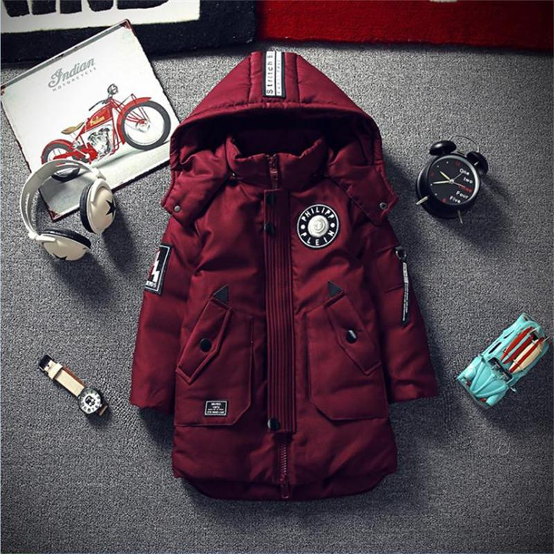 9e1fb9071163 Boys Cotton Long Thicker 2018 New Children S Clothing Children S Cotton  Jacket Korean Version Of The Big Child Winter Clothing Toddler Winter  Jackets Kids ...