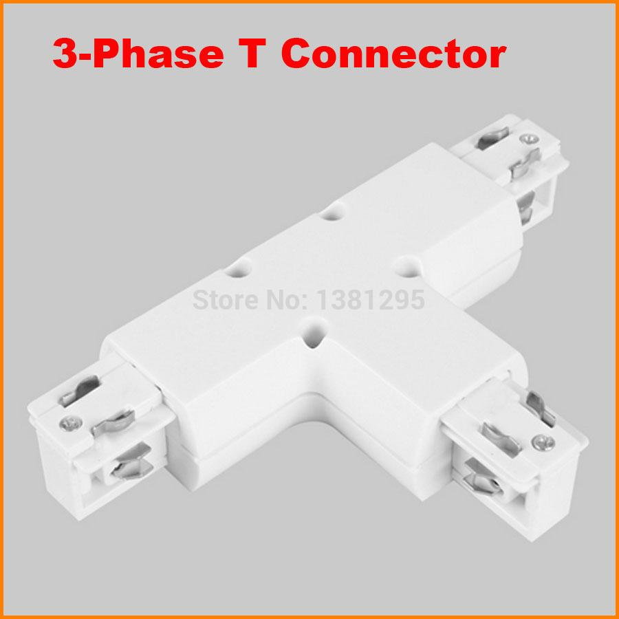 2018 3 Phase Circuit 4 Wire T Shape Track Light Connector Led Rail ...
