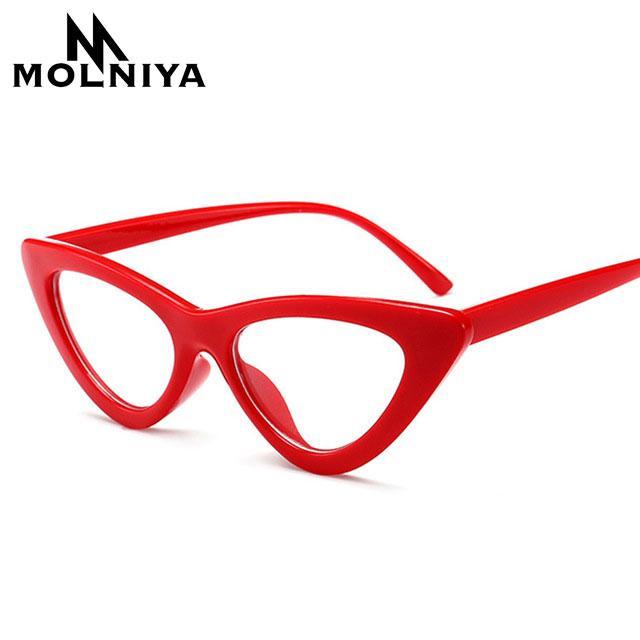 7bbd36840567 2019 OFIR Sexy Red Cat Eye Glasses Frames For Women 2018 Retro Optical  Frame Black Small Cheap Myopia Eyewear Frames Women Female From Haydena